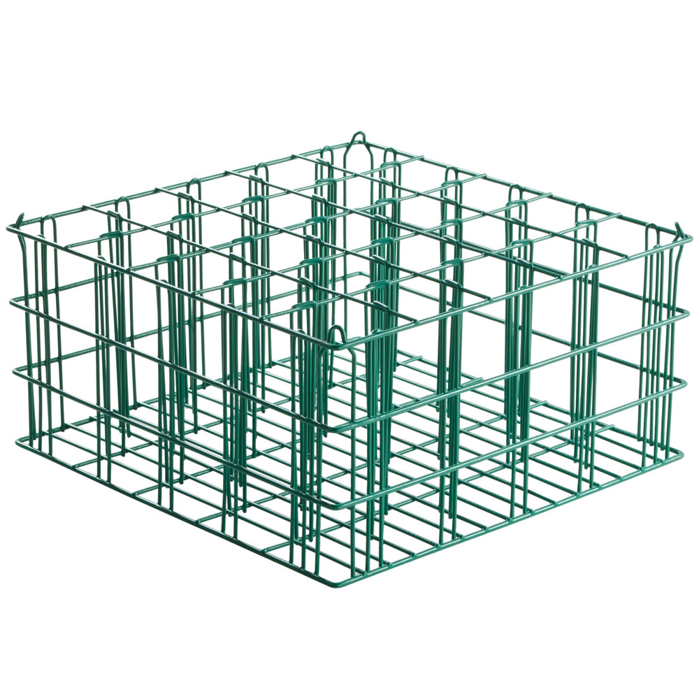 "25 Compartment Catering Glassware Basket - 3 1/2"" x 3 1/2"" x 9"" Compartments"