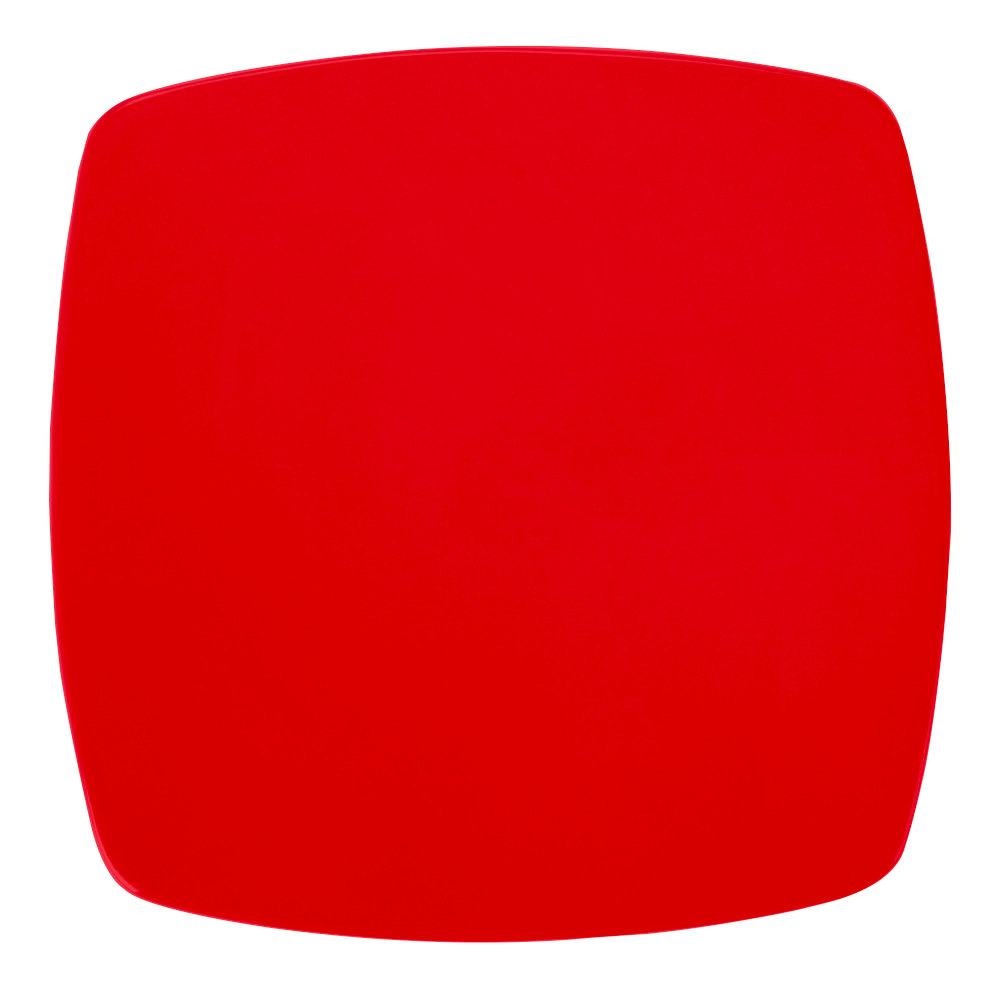 "CAC R-FS8R Clinton Color 8 7/8"" Red Square Flat Plate - 24/Case"