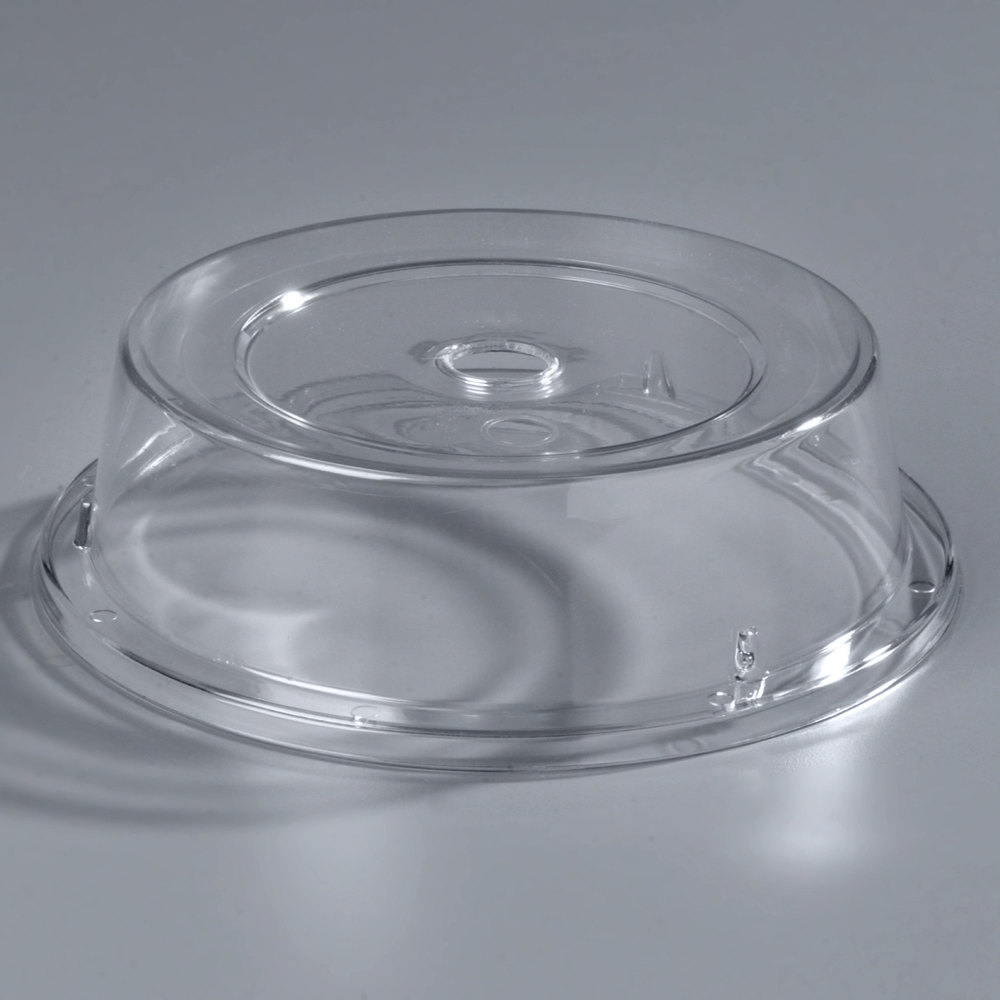 "Carlisle 190007 8 11/16"" to 9 1/8"" Clear Polycarbonate Plate Cover - 12/Case"