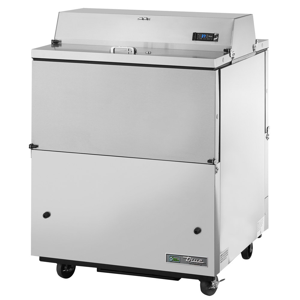 "True TMC-34-S-DS-SS 34"" Stainless Steel Two Sided Milk Cooler with Stainless Steel Interior"