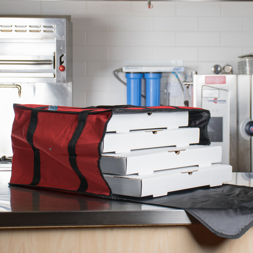 "20"" x 20"" x 13"" Insulated Pizza Delivery Bag - Nylon"