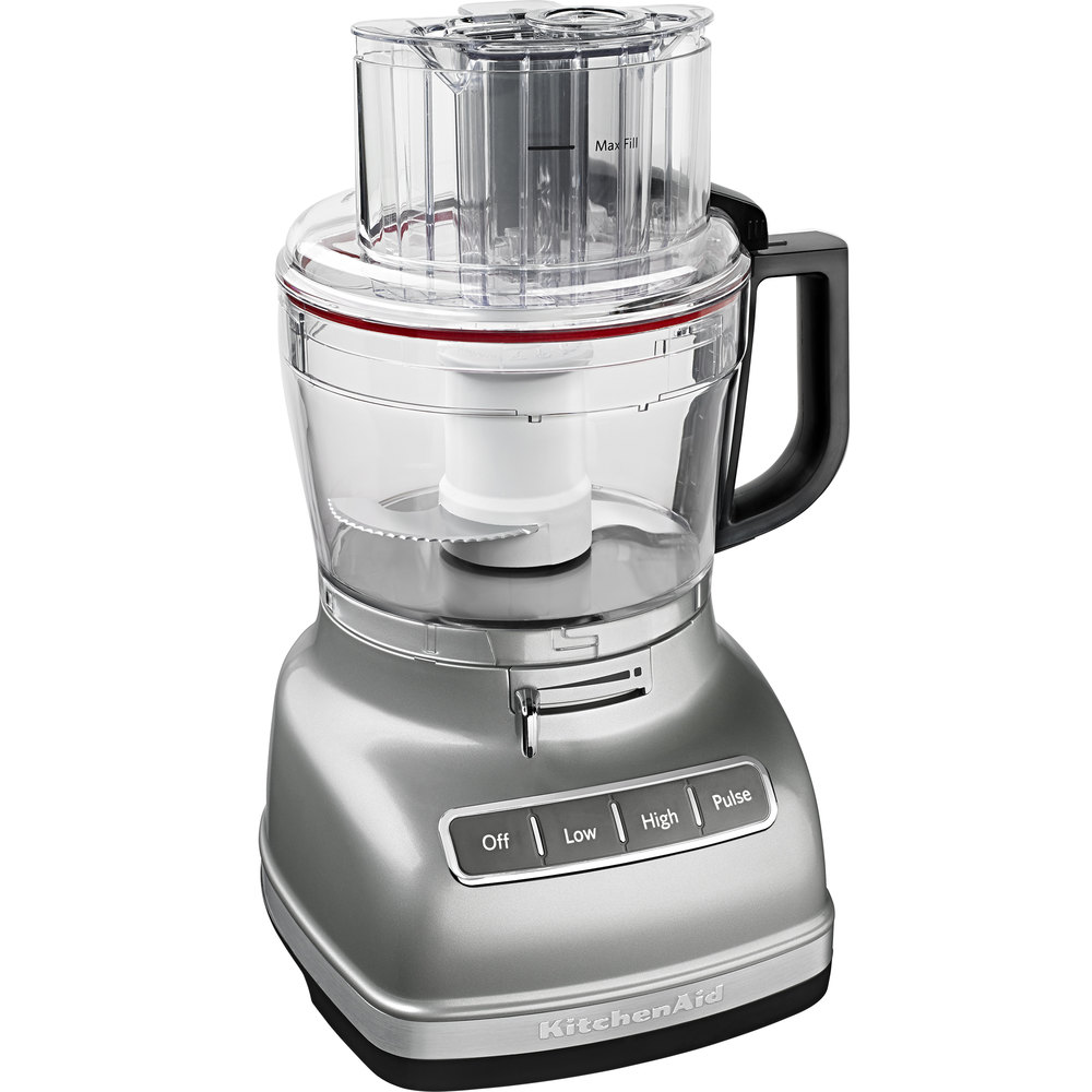 KitchenAid KFP1133CU Contour Silver 11 Cup Food Processor with ExactSlice System