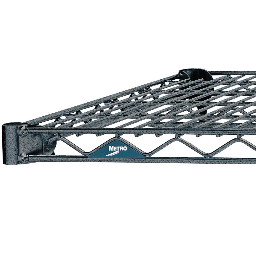 "Metro 1424N-DSH Super Erecta Silver Hammertone Wire Shelf - 14"" x 24"""