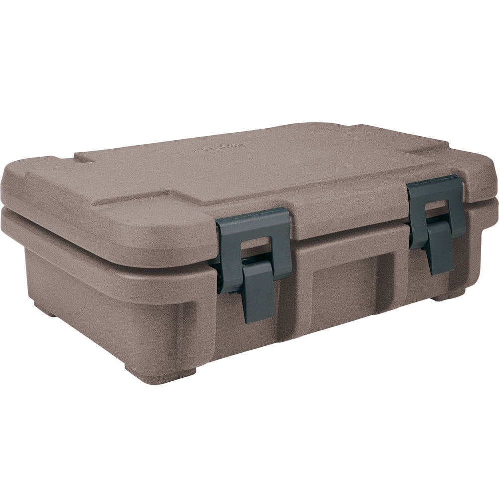 "Cambro UPC140194 Granite Sand Camcarrier Ultra Pan Carrier - Top Load for 12"" x 20"" Food Pan"