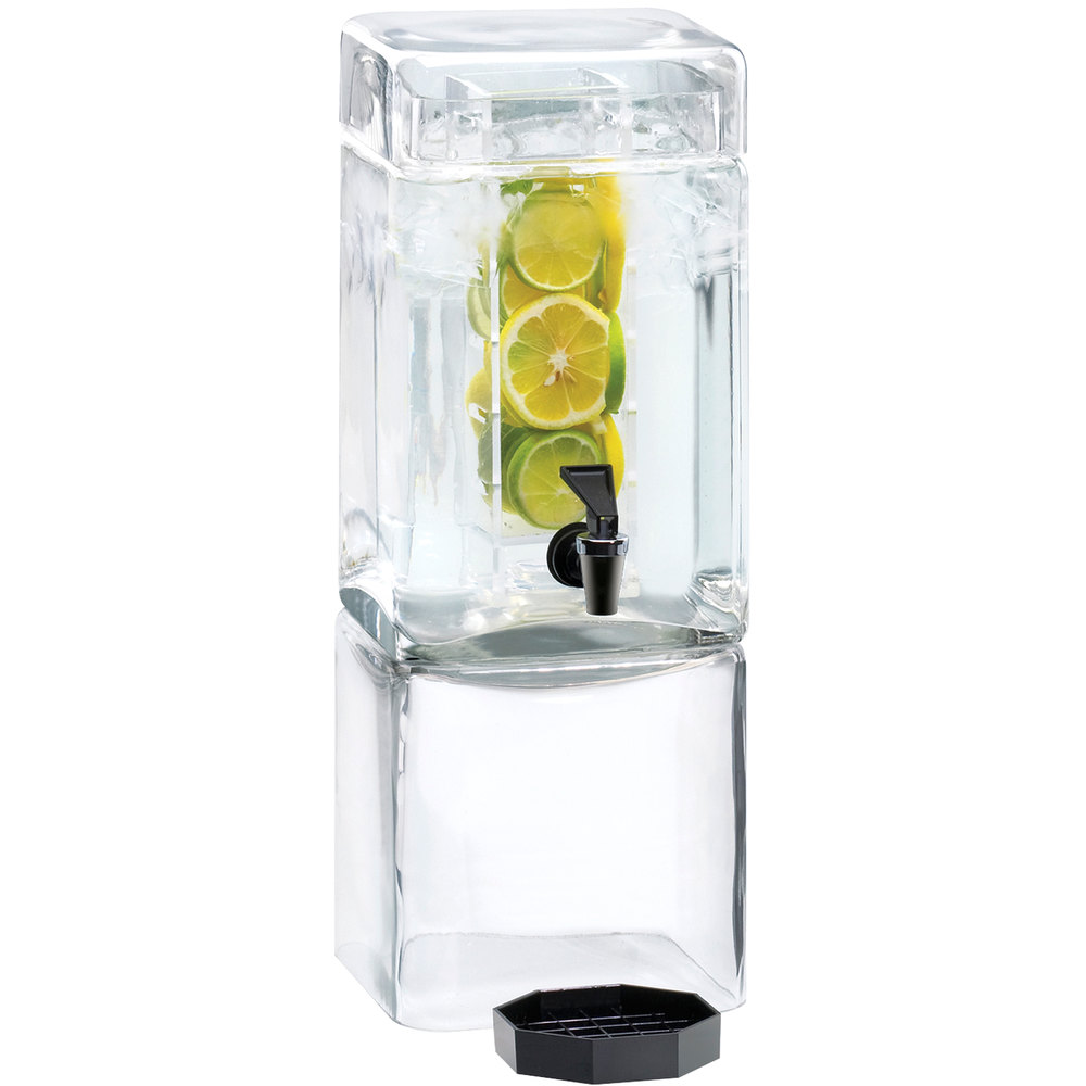 Cal Mil 1112 1inf 1 5 Gallon Square Glass Beverage