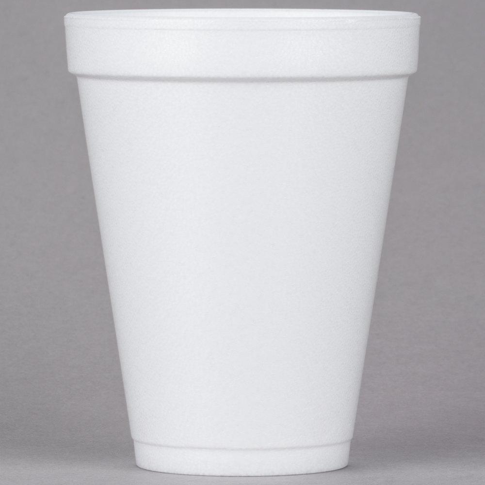 Dart 12j12 12 Oz White Foam Cup 25 Pack