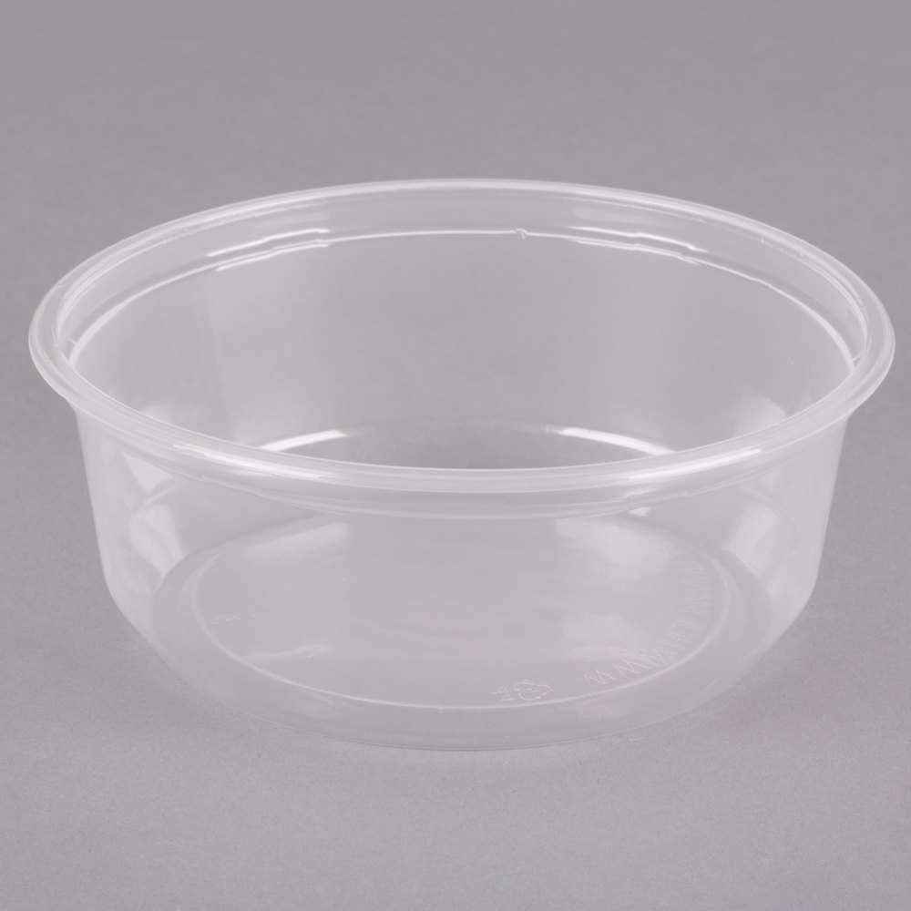 Choice 8 Oz Customizable Microwavable Contact Clear Round