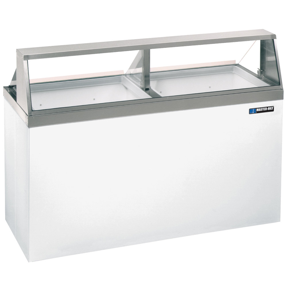 MasterBilt DD Straight Glass Ice Cream Dipping Cabinet - Dipping cabinet