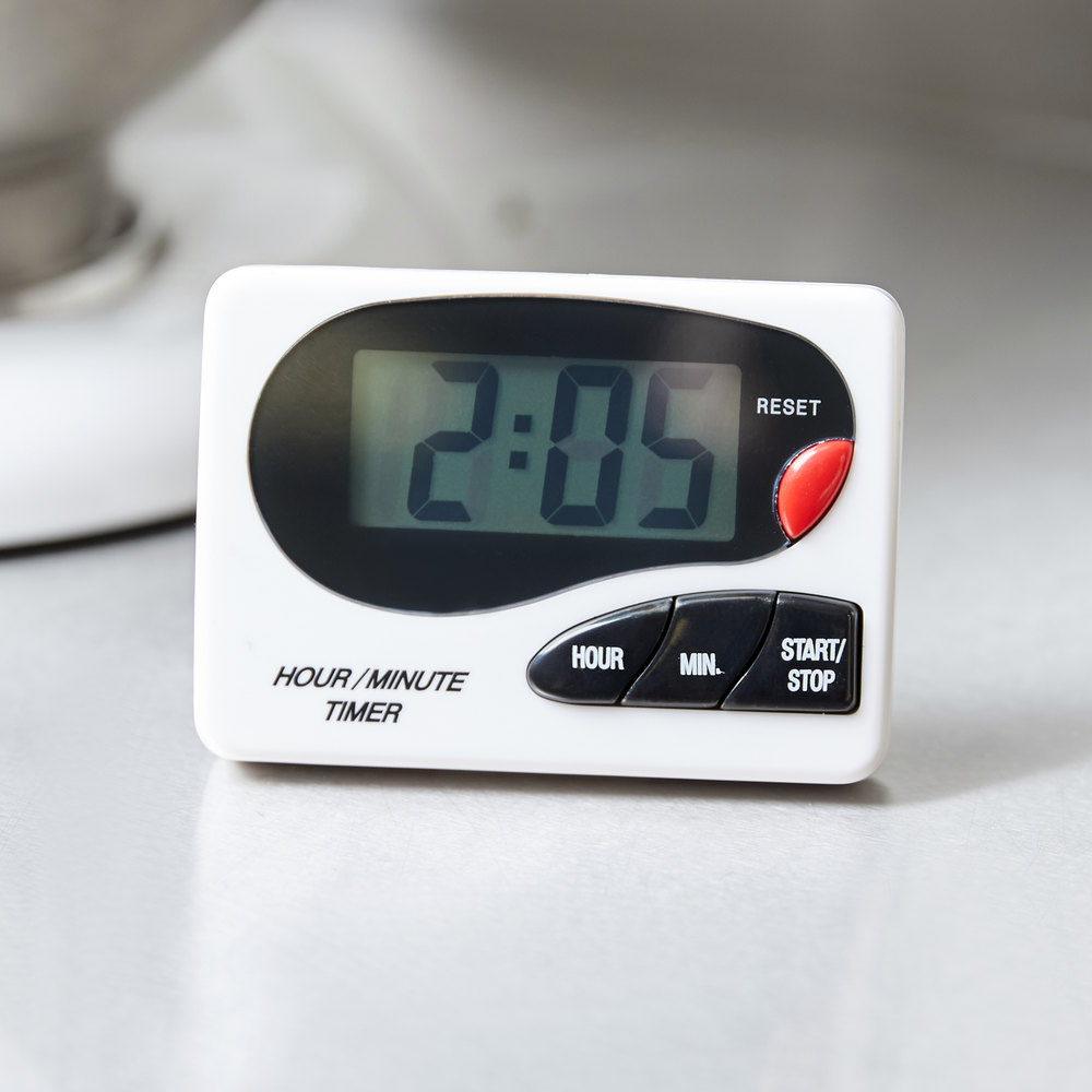 digital hour / minute magnetic kitchen timer with clip