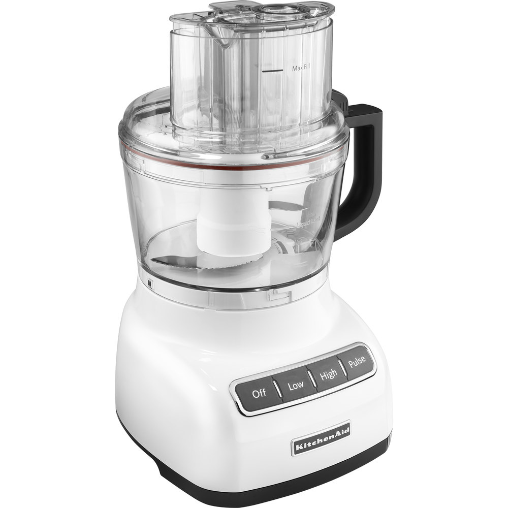 Kitchenaid kfp0922wh white 9 cup food processor for Kitchenaid food processor