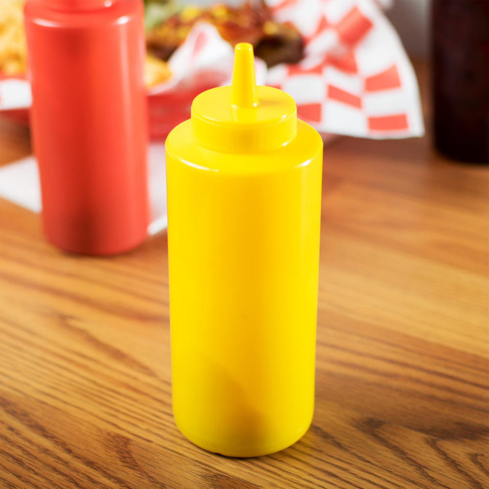 12 oz. Yellow Squeeze Bottle - 6/Pack