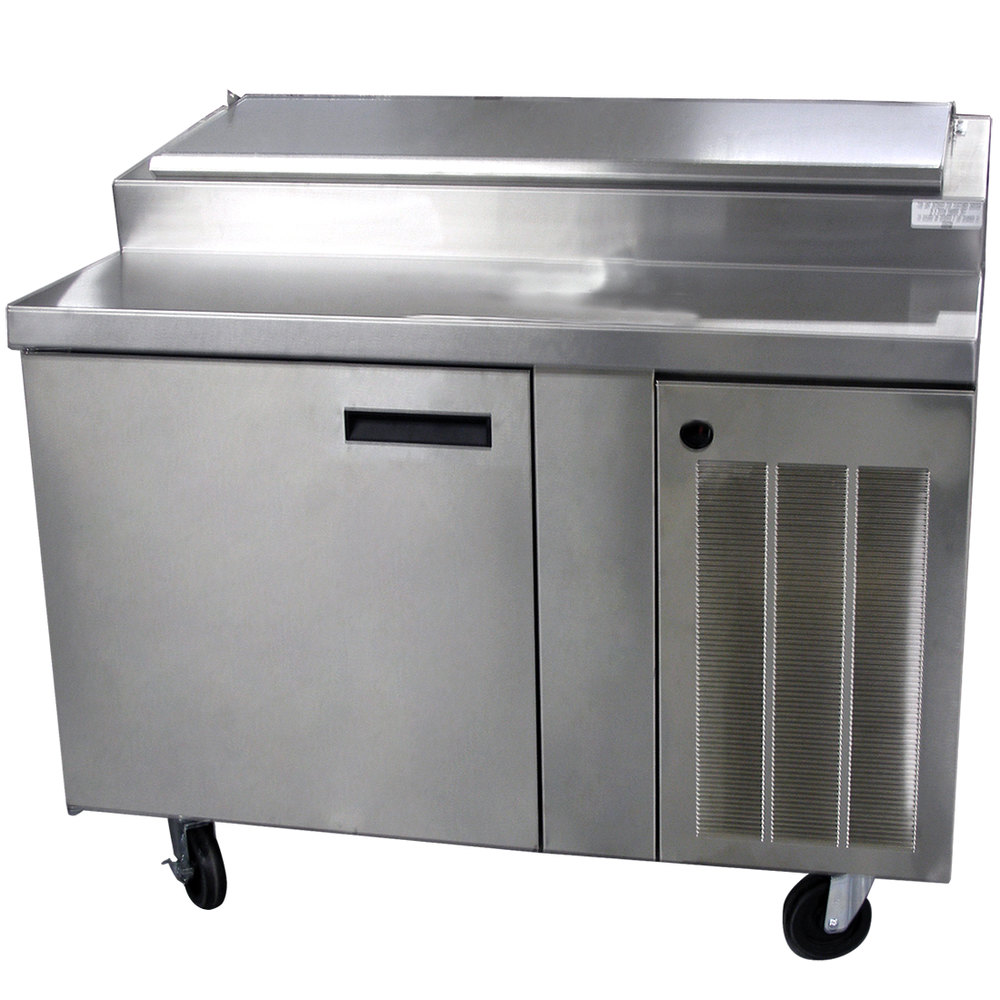 "Delfield 18648PTBM 48"" One Door Refrigerated Pizza Prep Table"