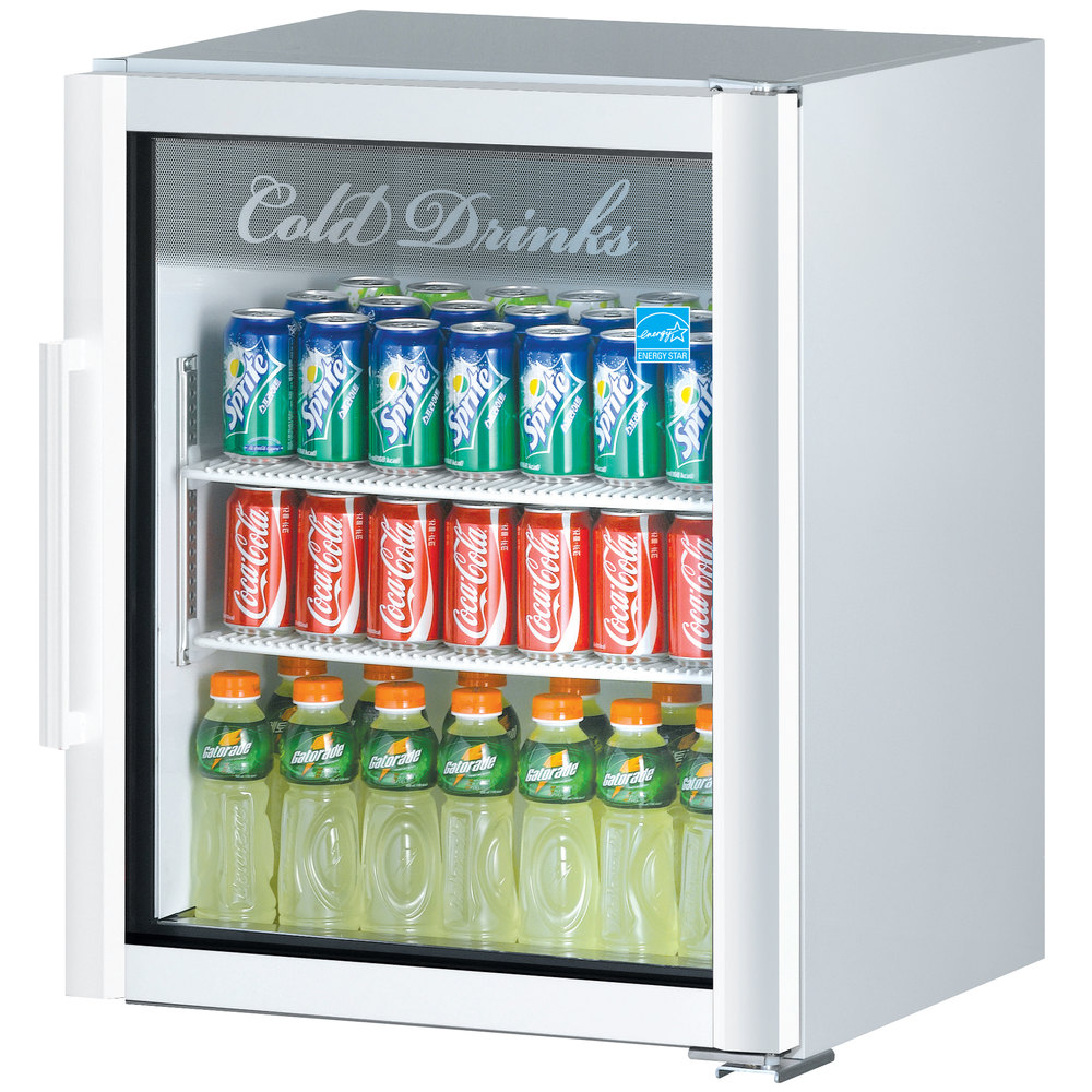 Turbo Air TGM-5SD White Countertop Display Refrigerator with Swing Door - 5.9 cu. ft.