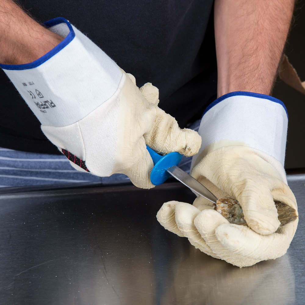 Yellow Rubber Oyster Shucking Gloves