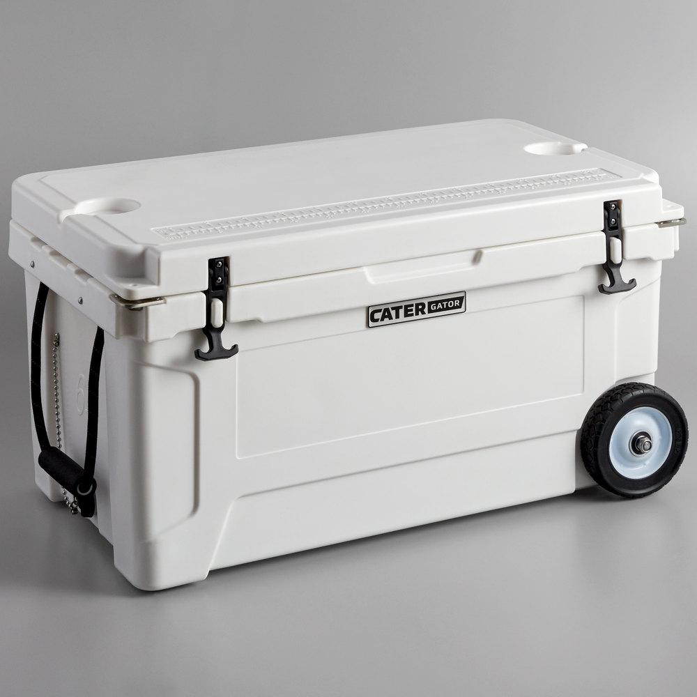 CaterGator CG65WHW White 65 Qt  Mobile Rotomolded Extreme Outdoor