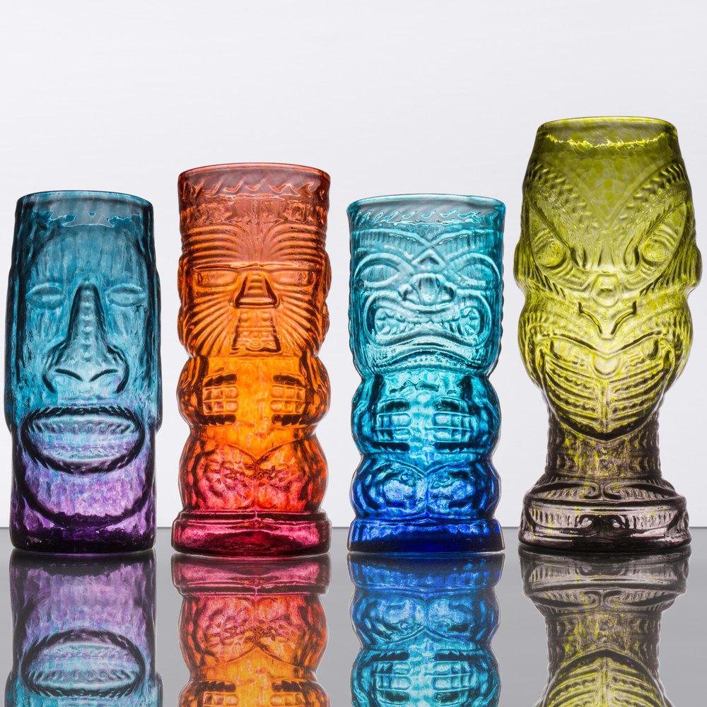 Tropical Tiki Glass Mixed Set 4 Case