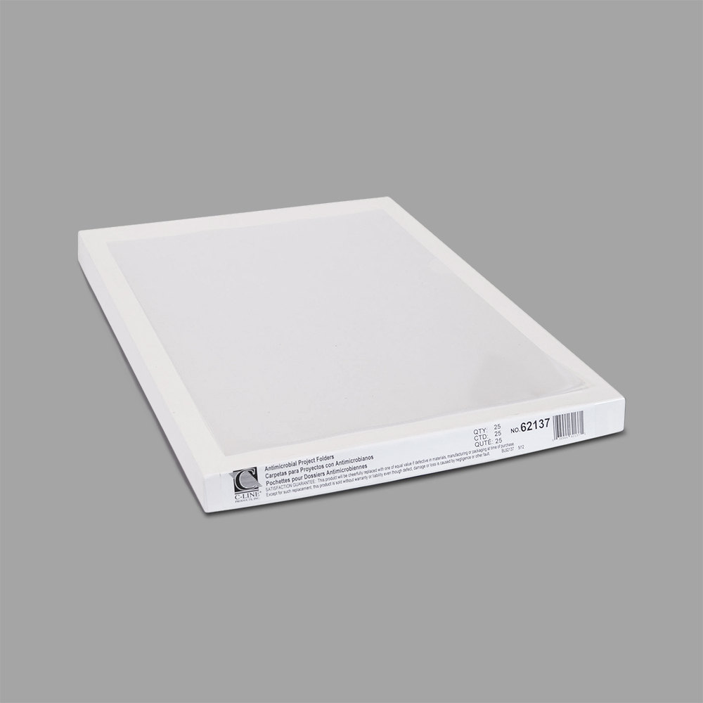 Free Shipping 25//BX New C-Line Antimicrobial Protected Project Folders