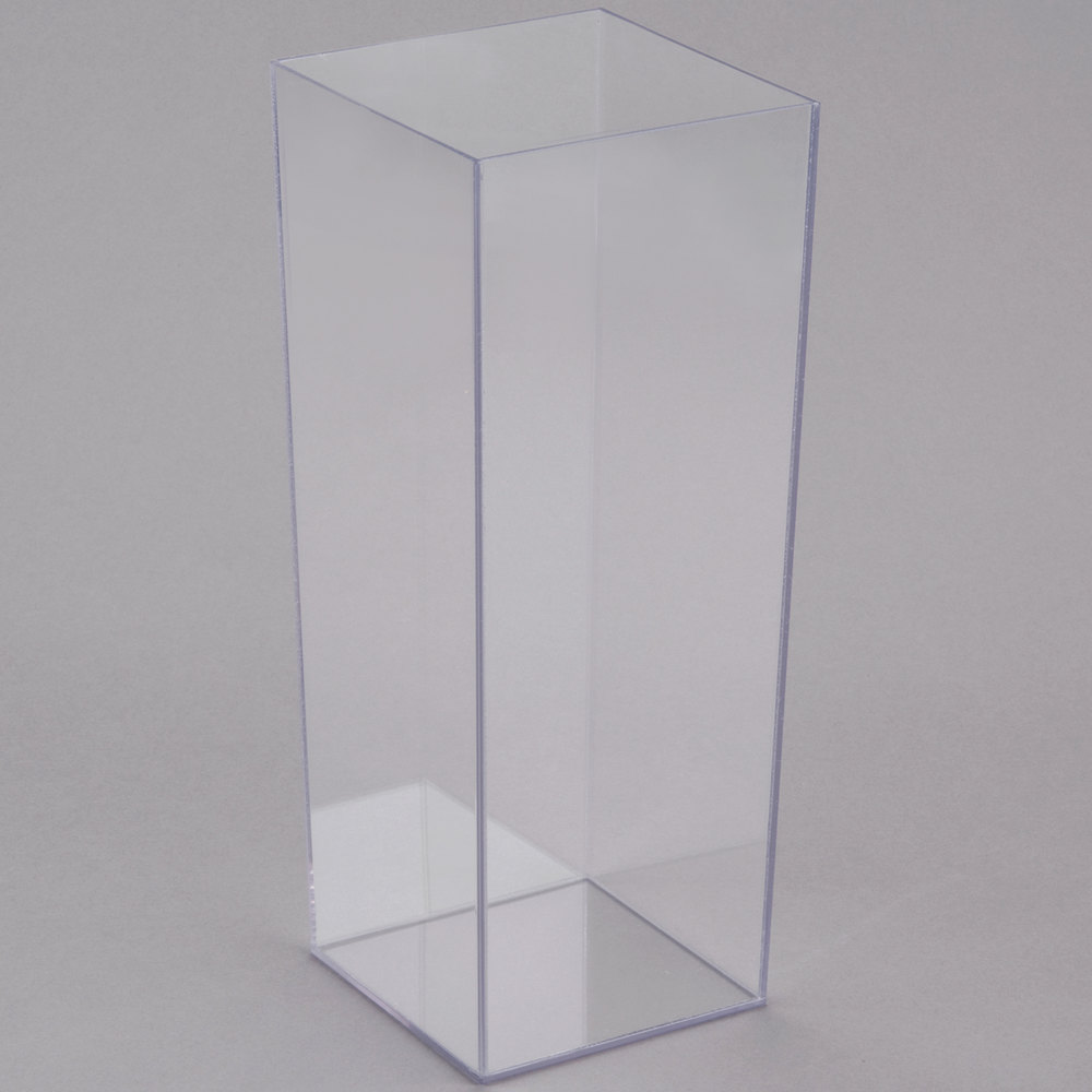 Cal mil 879 12 5 x 12 square clear acrylic accent display vase main picture reviewsmspy