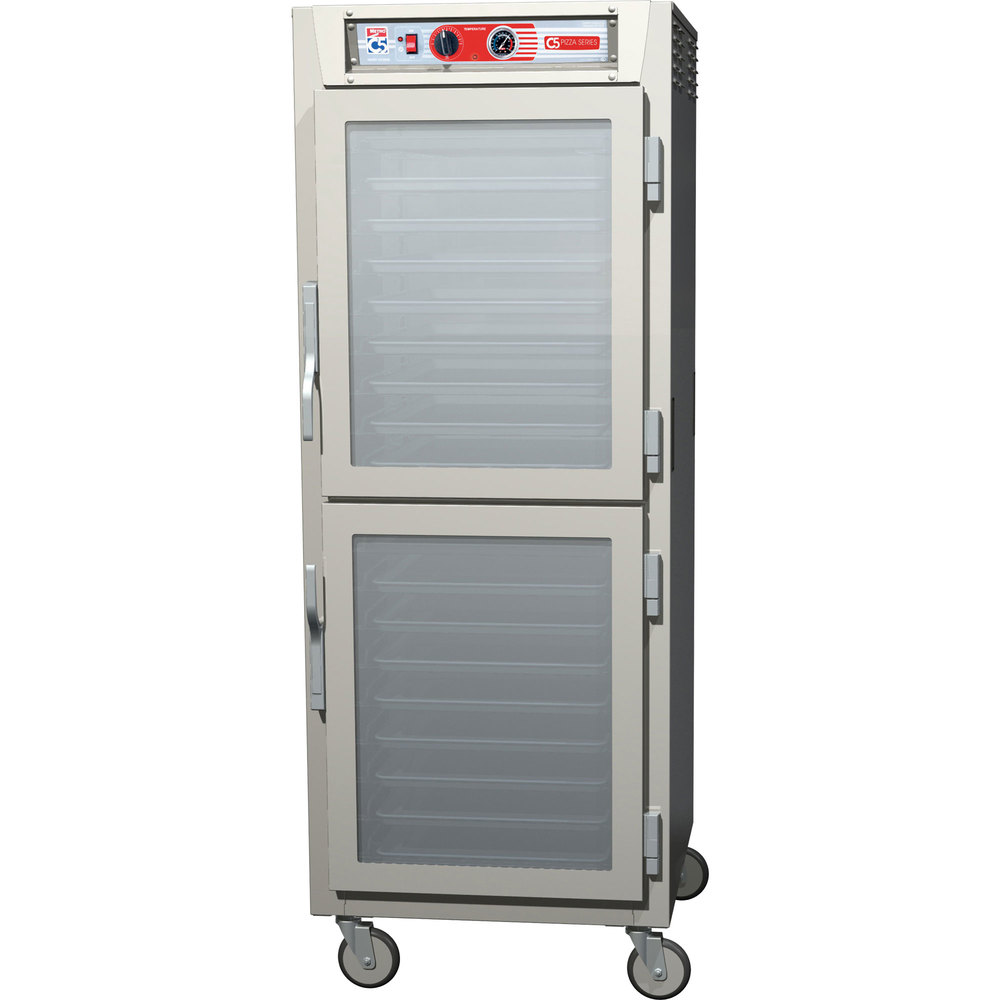 Metro C5Z69-SDC-SPDC C5 Pizza Series Pass-Through Insulated Heated Holding Cabinet - Full Size with Clear Dutch Doors 120V