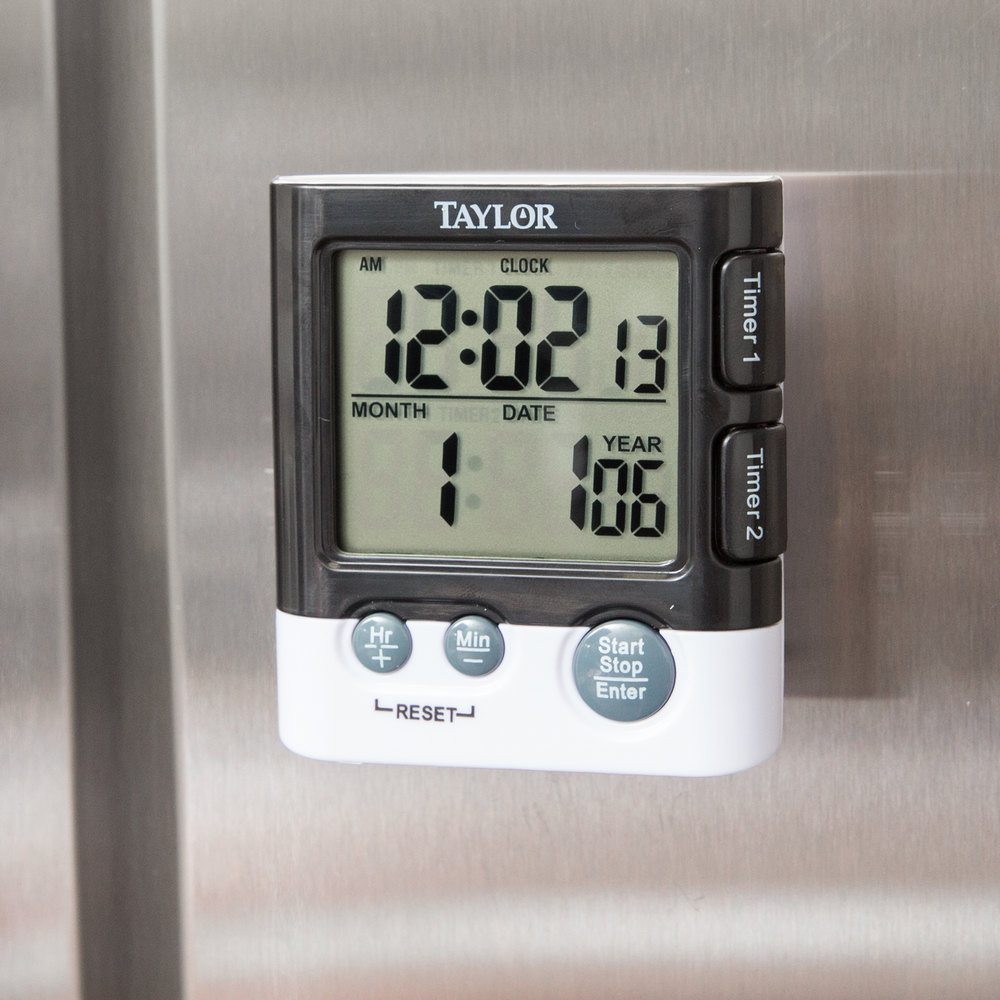 Taylor 5828 Dual Event Digital Kitchen Timer With Clock