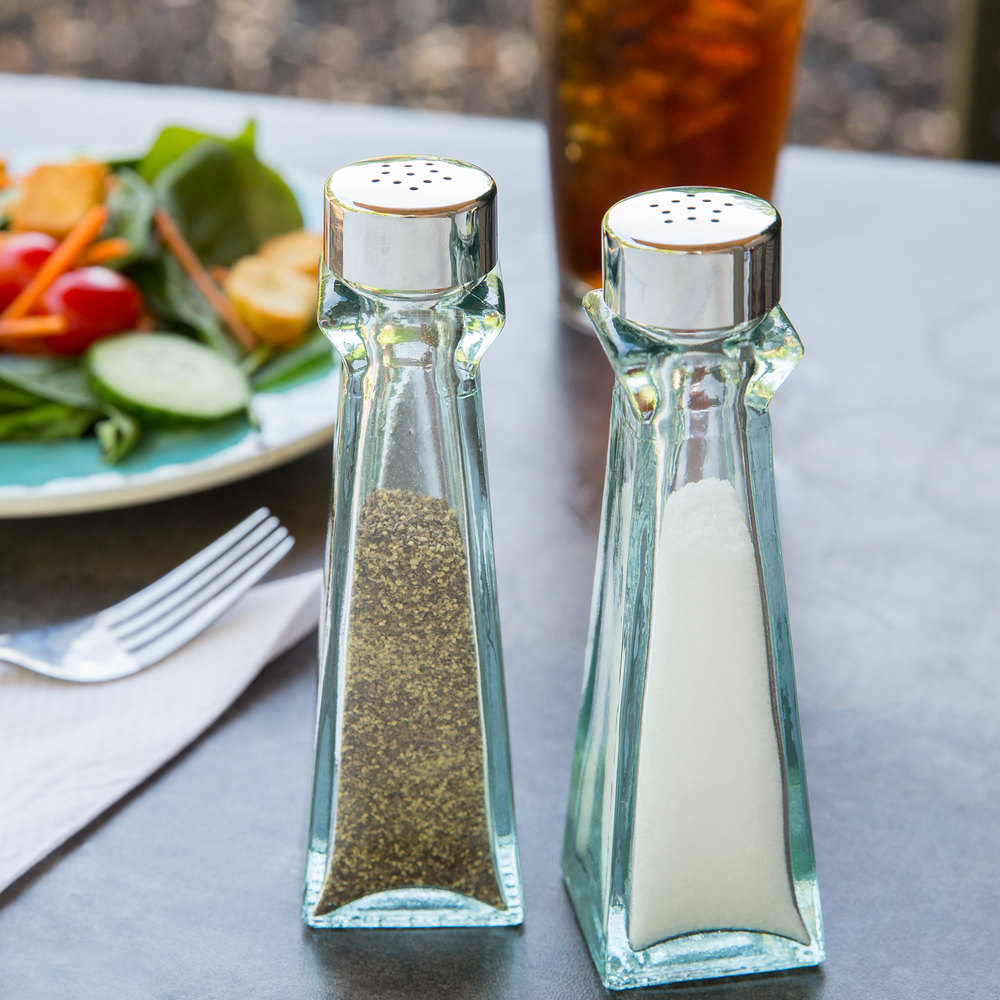 Tablecraft 615 Marbella 3 oz. Salt and Pepper Shaker - 24 Shakers / Case