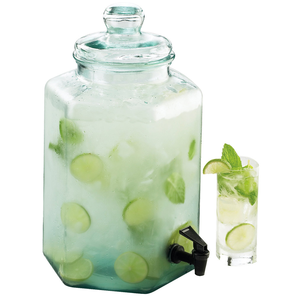 Cal-Mil 1745 2 Gallon Glass Beverage Dispenser