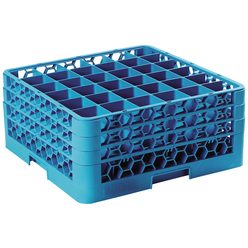 Carlisle Rg36 314 Opticlean 36 Compartment Glass Rack With