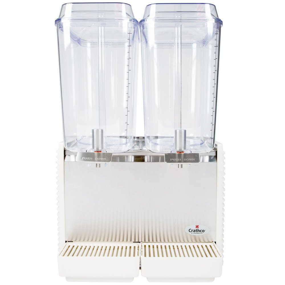 Crathco D25-4 Double 5 Gallon Bowl High Impact Plastic Refrigerated Beverage Dispenser