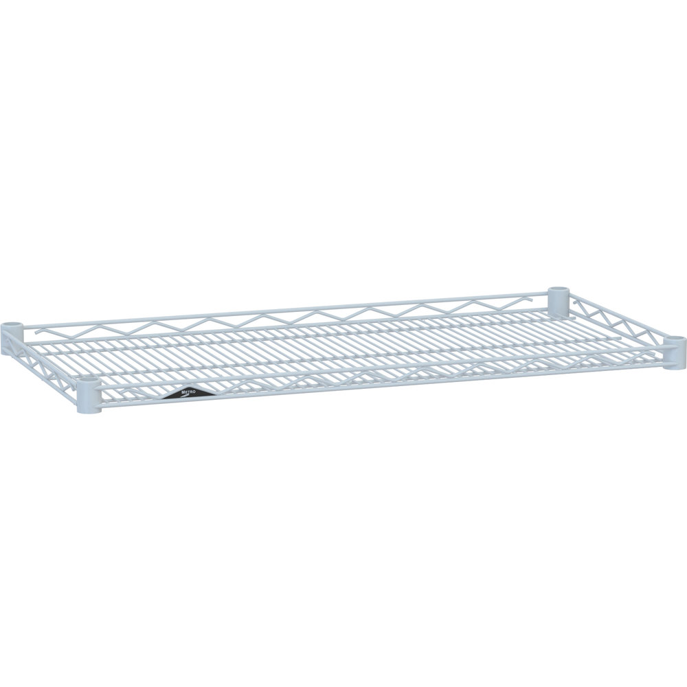 "Metro HDM2424W Super Erecta White Drop Mat Wire Shelf - 24"" x 24"""