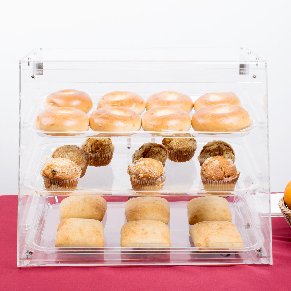 3 Tray Bakery Display Case with Rear Doors