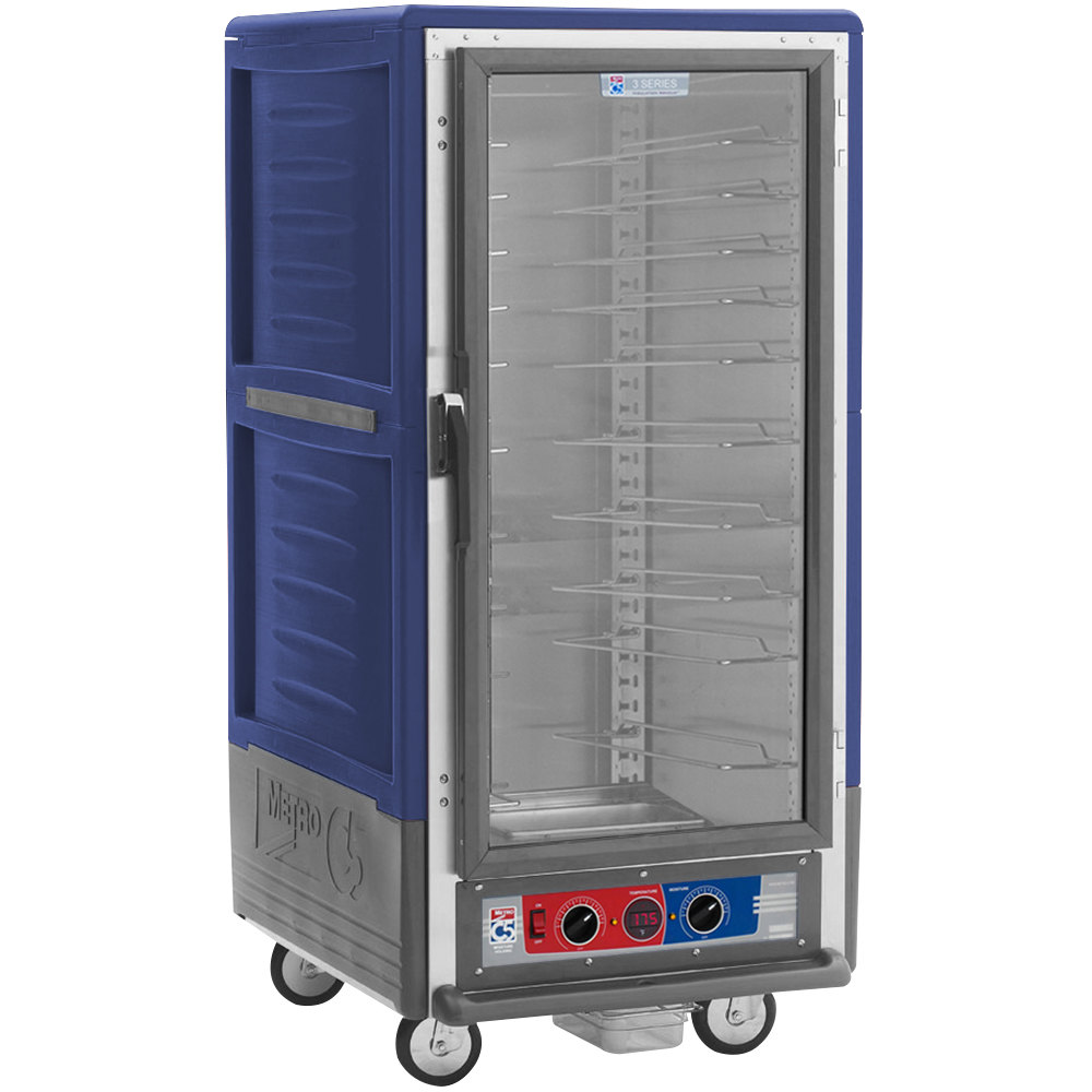 Metro C537-MFC-U-BU C5 3 Series Heated Holding and Proofing Cabinet with Clear Door - Blue