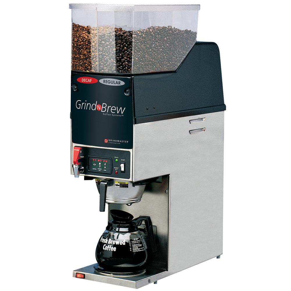 Commercial Coffee Grinder ~ Grindmaster gnb h lb dual hopper oz decanter