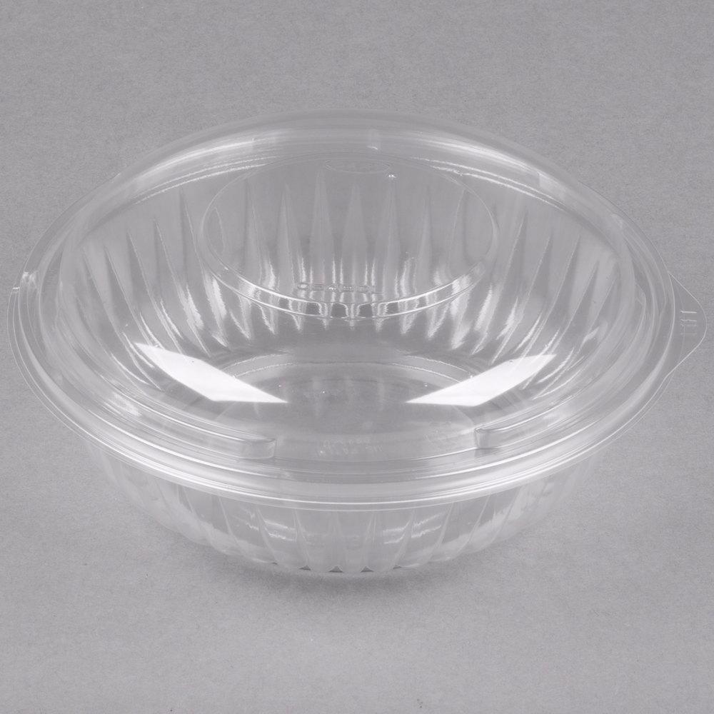 dart c24bcd presentabowls 24 oz clear plastic bowl with dome lid 126 case. Black Bedroom Furniture Sets. Home Design Ideas