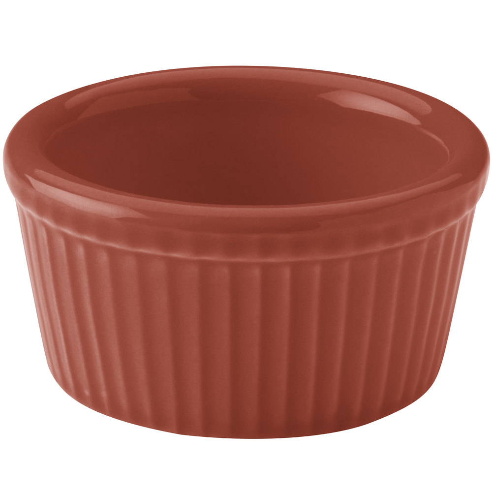 Hall China 30834334 Paprika 2.75 oz. Colorations Fluted Ramekin - 36/Case