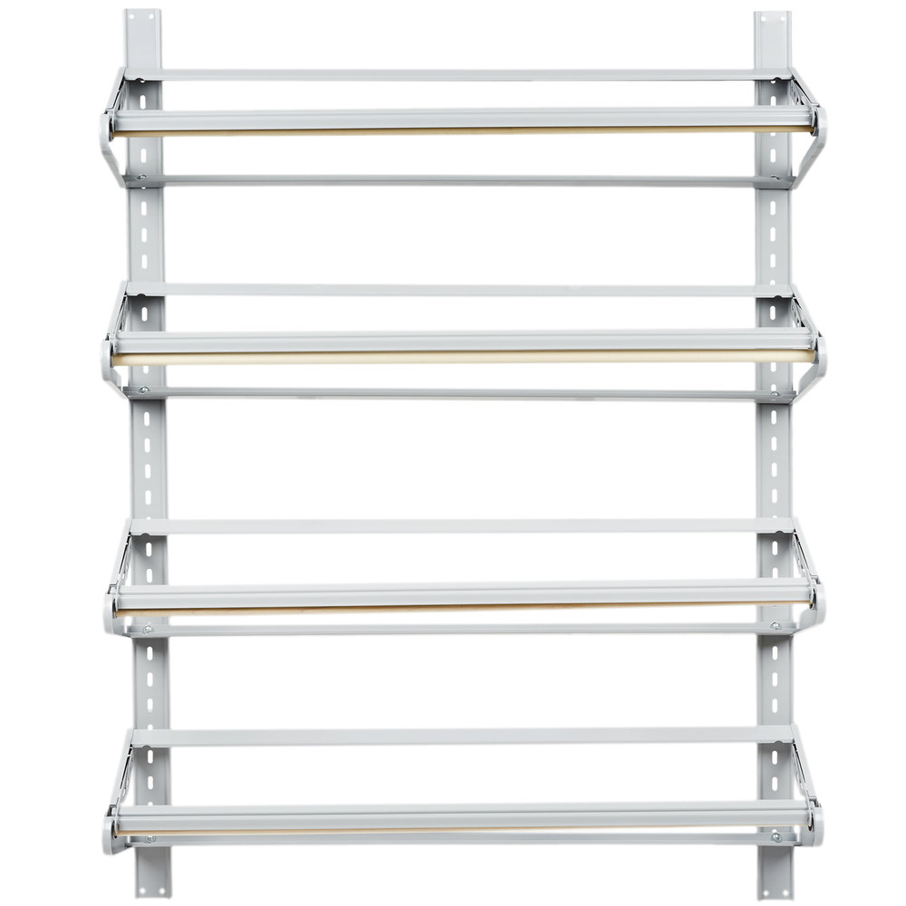 bulman t29336 36 inch horizontal four paper roll wall rack