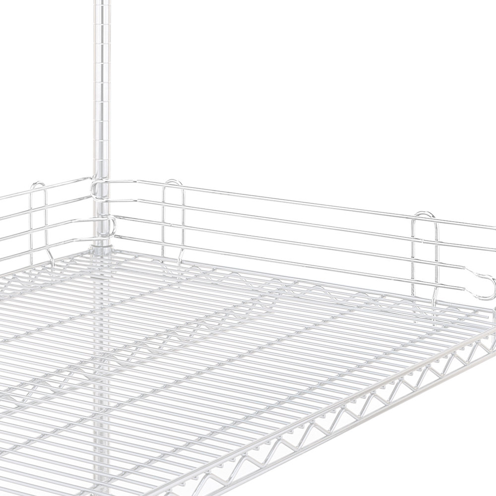 "Metro L60N-4W Super Erecta White Stackable Ledge 60"" x 4"""