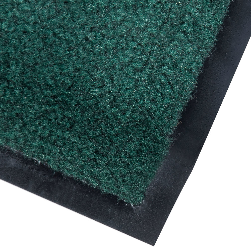 "Cactus Mat 1437M-G31 Catalina Standard-Duty 3' x 10' Green Olefin Carpet Entrance Floor Mat - 5/16"" Thick"