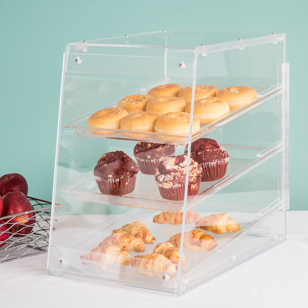 "Cal-Mil 960 Classic U-Build Three Tier Acrylic Display Case - 11 1/2"" x 17"" x 17"""