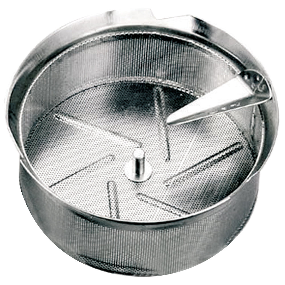 "Tellier M5010 1/32"" Perforated Replacement Sieve for # 5 Food Mill - Tin-Plated Steel"