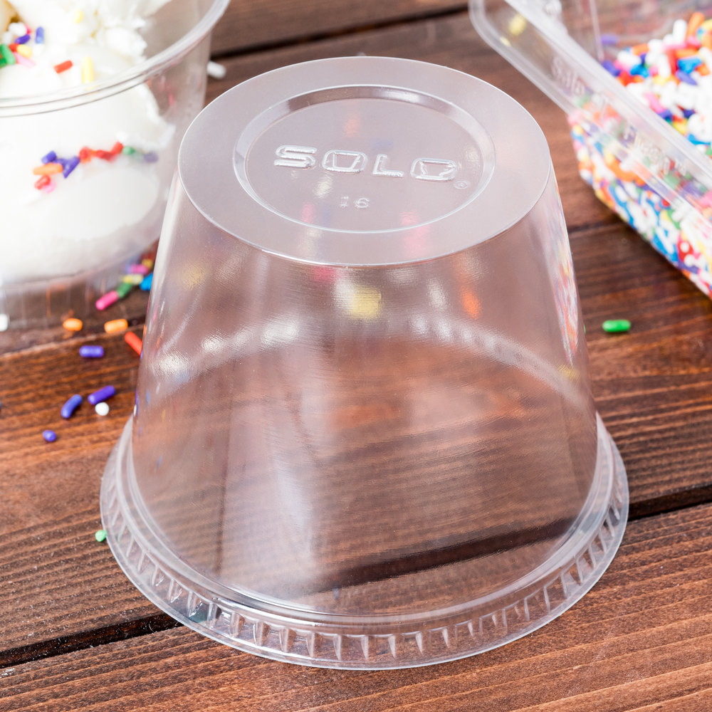 Dart Solo DLR100-0090 Sundae Cup Dome Lid 1000 / Case
