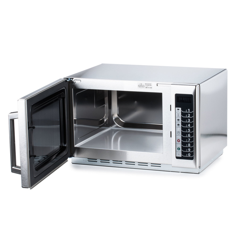 Amana Rcs10ts Stackable Commercial Microwave With Push Button Controls 120v 1000w