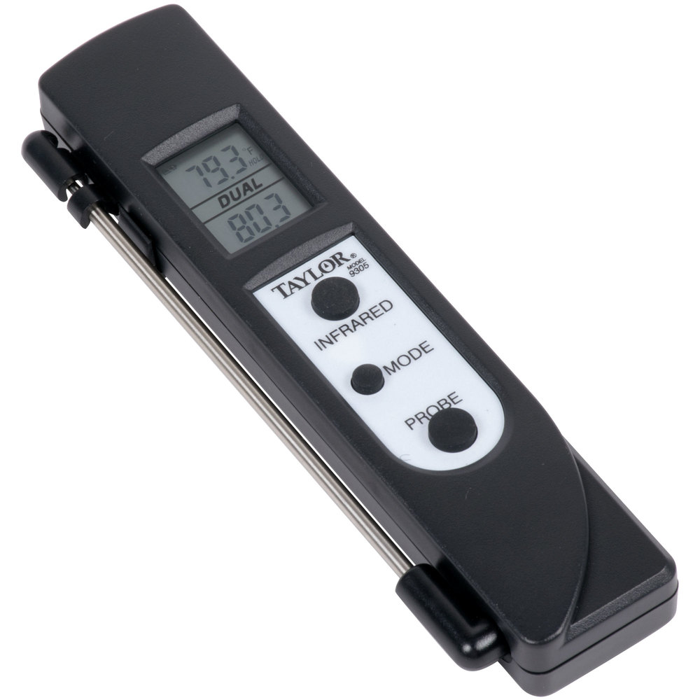 Taylor 9305 Dual Temp Infrared Thermometer with Probe
