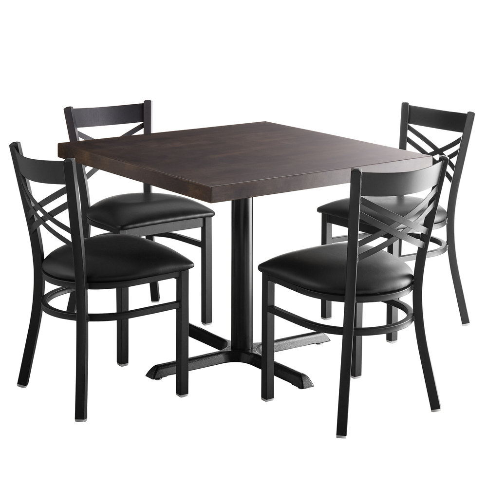 """Butcher Block Kitchen Tables And Chairs: Lancaster Table & Seating 36"""" Square Recycled Wood Butcher"""