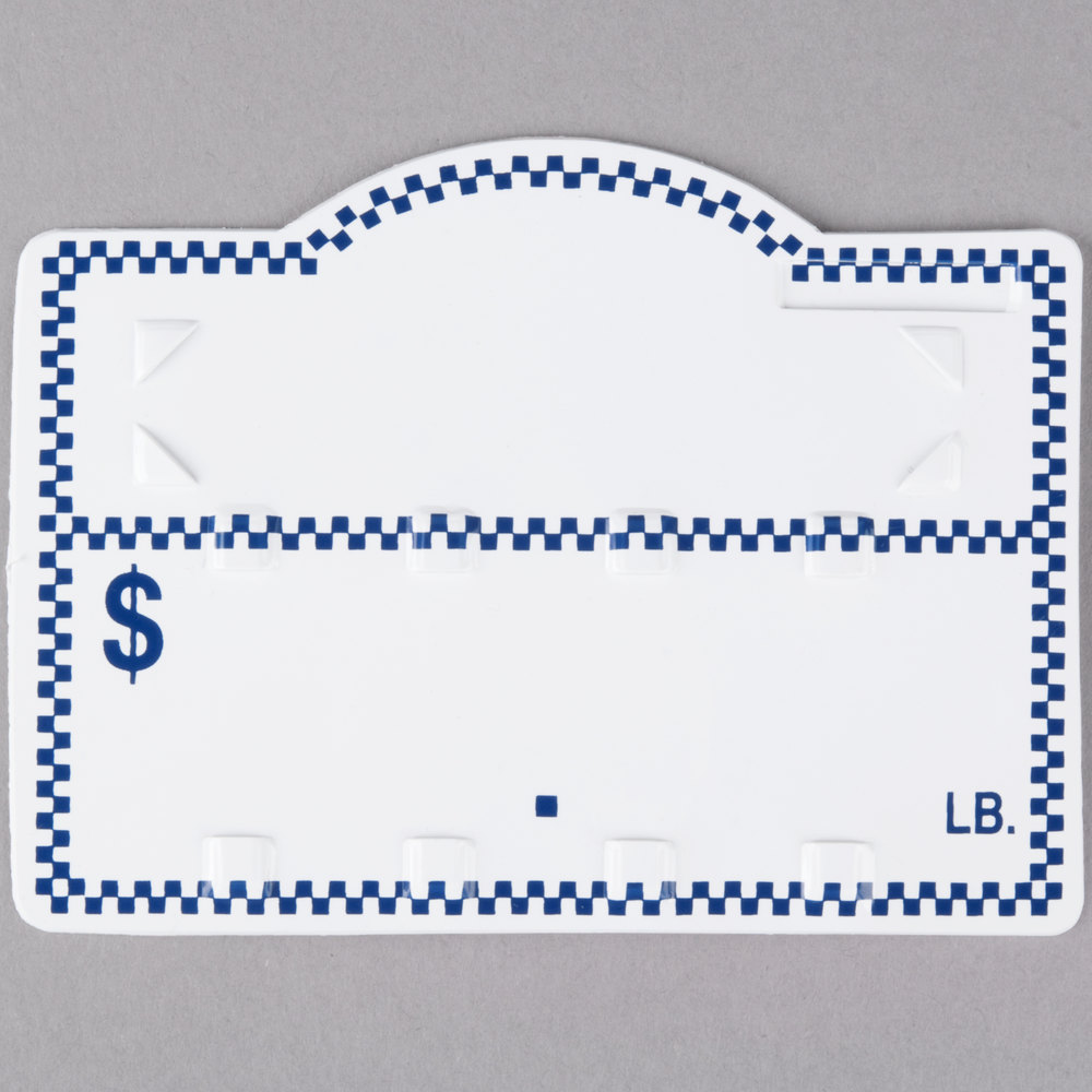 Deli Number Tag with Insert - Blue Checkered