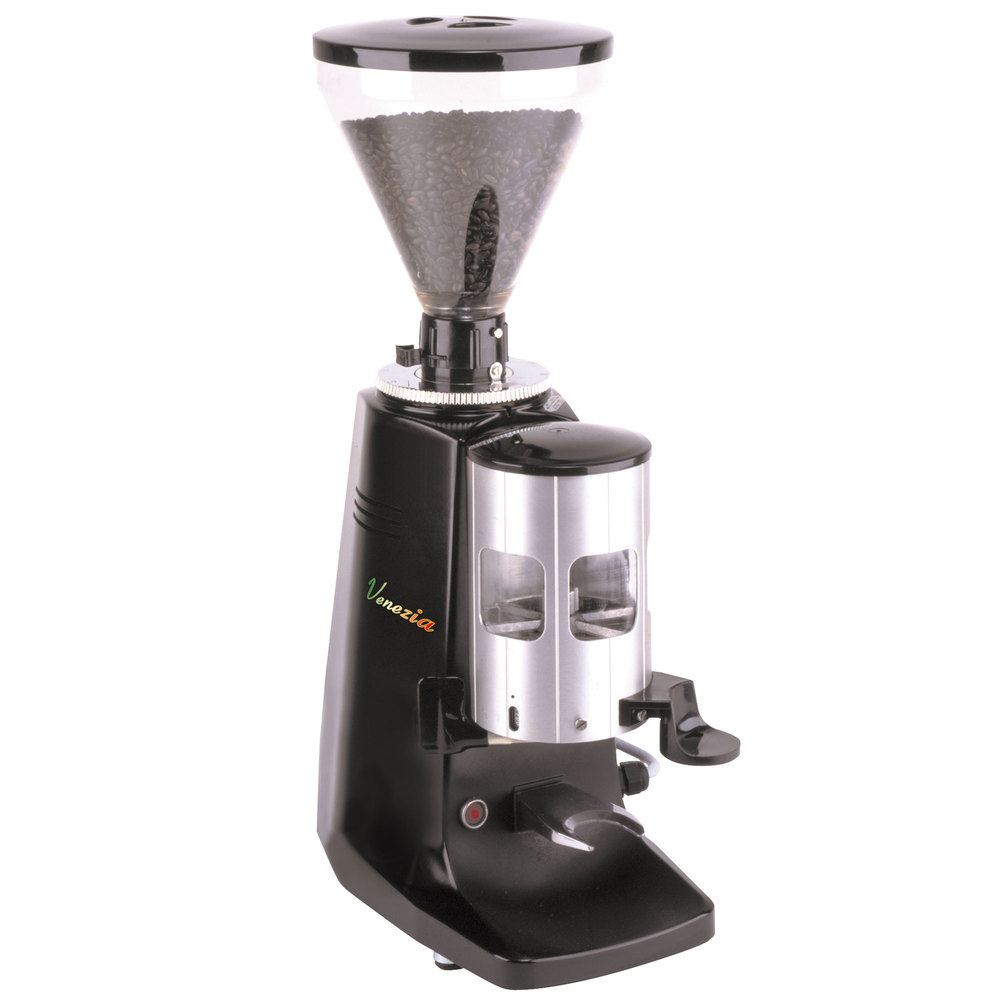 Coffee Maker With Grinder Timer : Cecilware VGHDA Venezia Heavy Duty Espresso Grinder with Automatic Timer - 120V