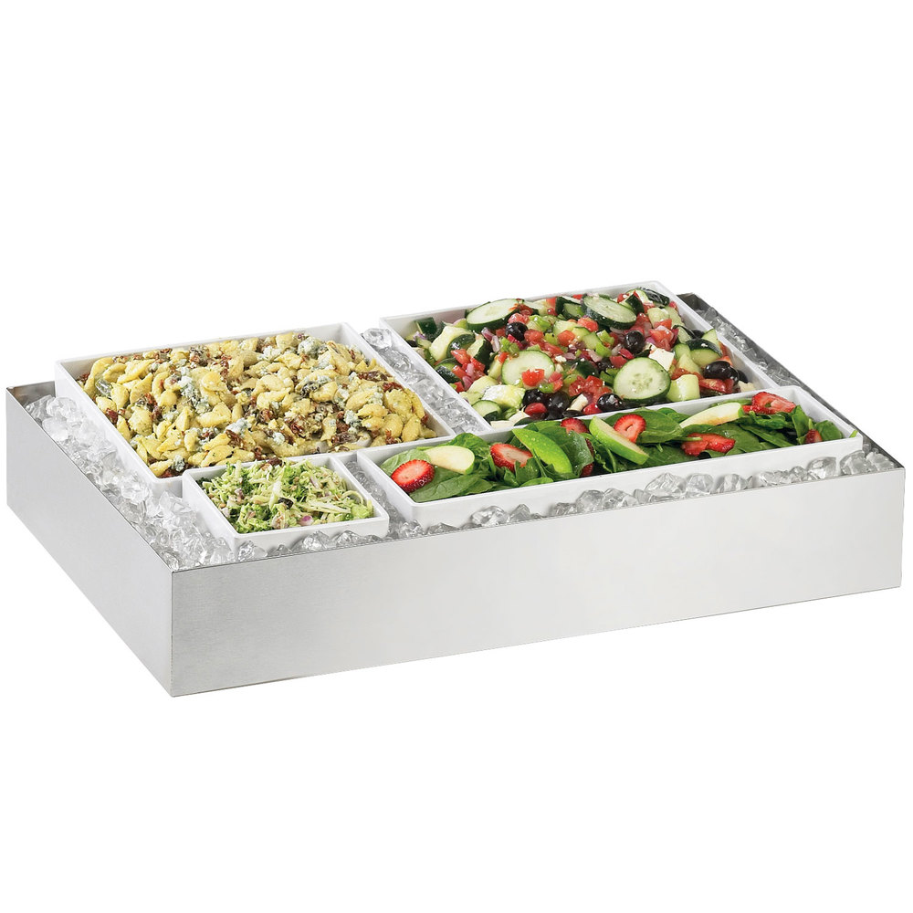 "Cal-Mil 1398-55 Cater Choice System Stainless Steel Ice Housing - 32"" x 24"" x 4 1/4"""