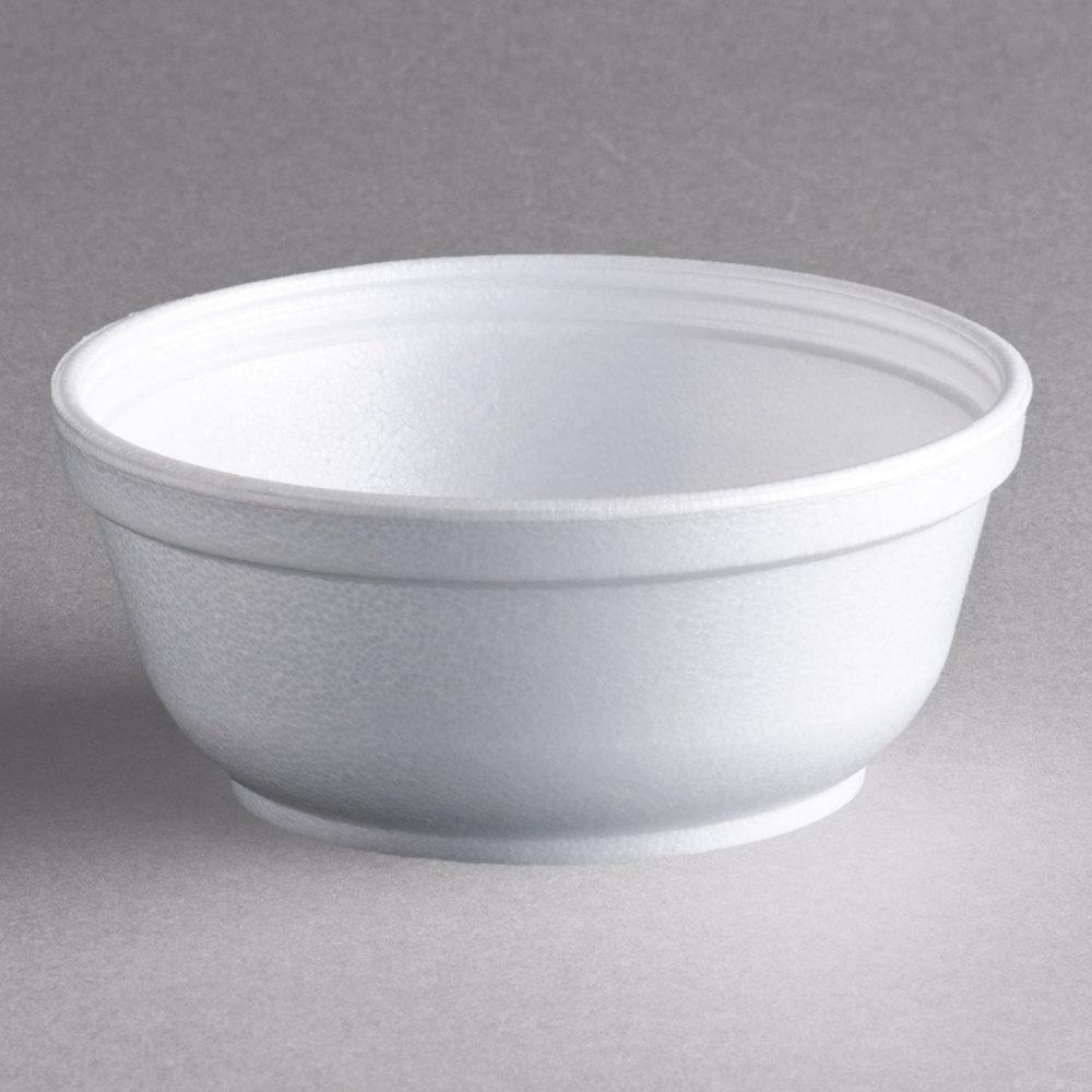 Dart 8b20 8 Oz Insulated White Customizable Foam Bowl