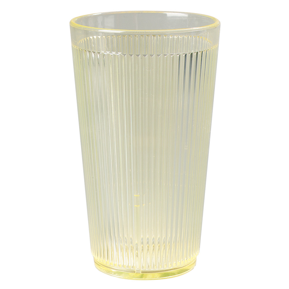 Carlisle 403522 Glo-Honey Yellow Crystalon RimGlow Tumbler 20 oz. - 48 / Case