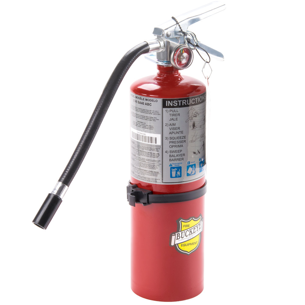 Buckeye 5 Lb Abc Fire Extinguisher Rechargeable Tagged