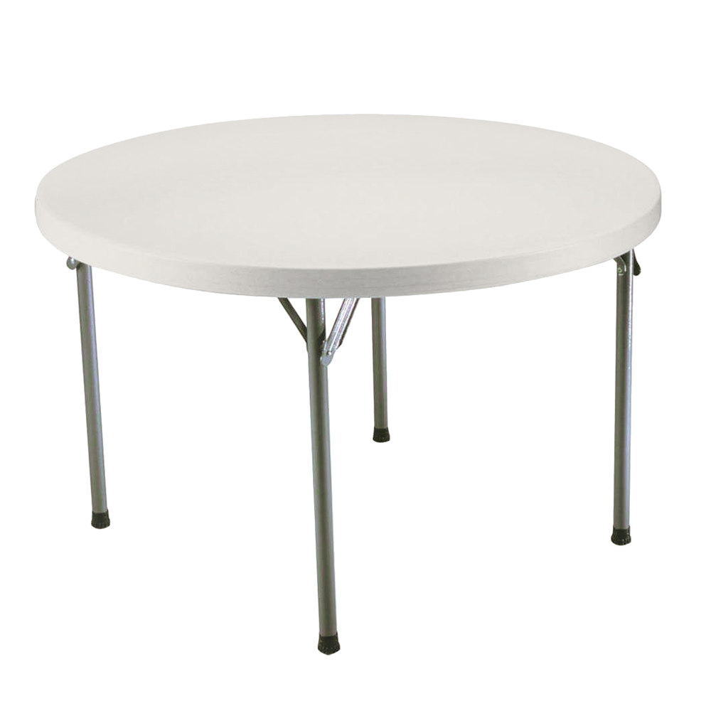 Lifetime 2968 48 Round Almond Plastic Folding Table
